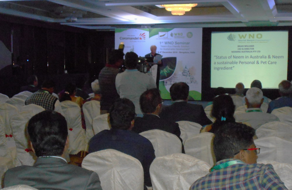Address to World Neem Organisation by Brian